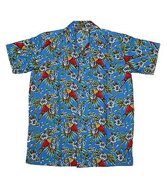 1a7972482 SAITARK Mens Hawaiian Shirt Stag Beach Hawaii Aloha Party Summer Holiday  Fancy Beach Palm (L