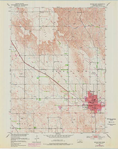 Amazon Com Yellowmaps Broken Bow Ne Topo Map 1 24000 Scale 7 5 X