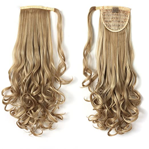 "OneDor 20"" Long Curly Wrap Around Ponytail Hair Extension Synthetic 120g-130g (16H613)"