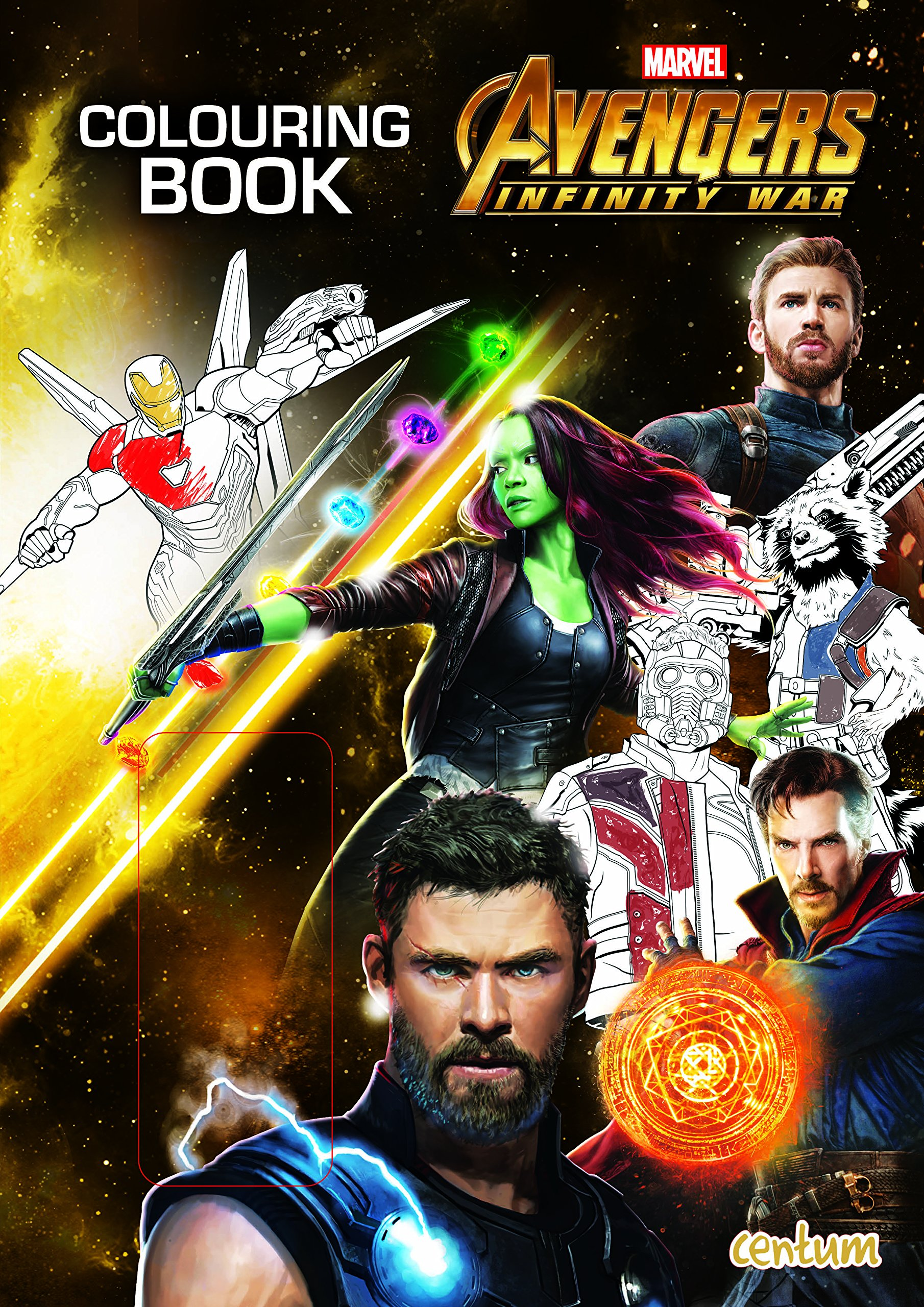 Avengers infinity war colouring book paperback april 1 2018