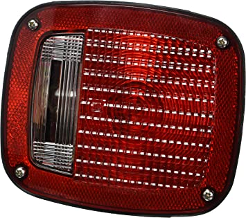 Grote 50972-5 Red Three-Stud Peterbilt Chevrolet Jeep GMC Stop Tail Turn Light with Pigtail with License Window