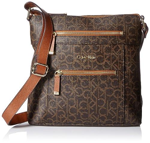 Calvin Klein - Bolso estilo cartera para mujer, color Marrón, talla: Amazon.es: Zapatos y complementos
