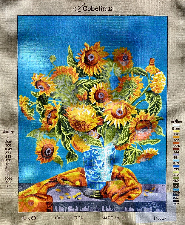 "Gobelin 07.65 Jesus Needlepoint tapestry painted canvas 10/""x12/"""