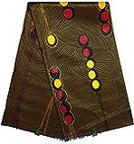 Wax Tissu PAGNE Africain Collection SPÉCIALE Block GAUFRÉ Coupon 6 Yards Coton réf AD