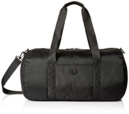 af32b8751 Fred Perry Men's Tonal Track Barrel Bag Sports Duffel, Black, One Size