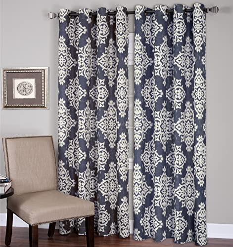 Elrene Home Fashions 26865796322 Grommet Top Linen Look Single Panel Window Curtain Drape