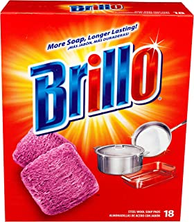 product image for Brillo Steel Wool Soap Pads, 18 Count