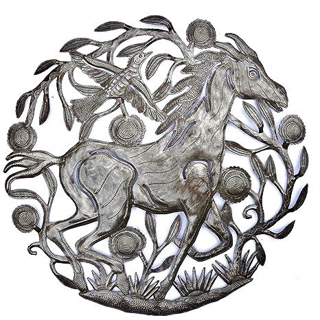 Amazon.com: Caballo Metal Art de Haití de reciclado Petróleo ...