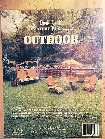 dollhouse outdoor furniture. Dura-craft Miniature Dollhouse Outdoor Furniture