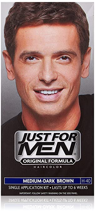 Amazon.com : Just For Men Shampoo-In Hair Color - Medium-Dark ...