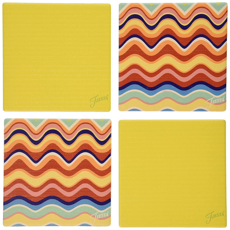 Multicolor Thirstystone Occasions Fiesta Multi Wave Sunflower Coaster Set