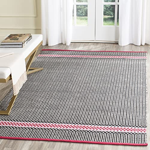 Safavieh Montauk Collection MTK820P Handmade Flatweave Light Pink and Multi Cotton Area Rug 4 x 6