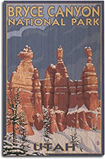 product image for Bryce Canyon National Park, Utah - Winter Scene #2 (10x15 Wood Wall Sign, Wall Decor Ready to Hang)