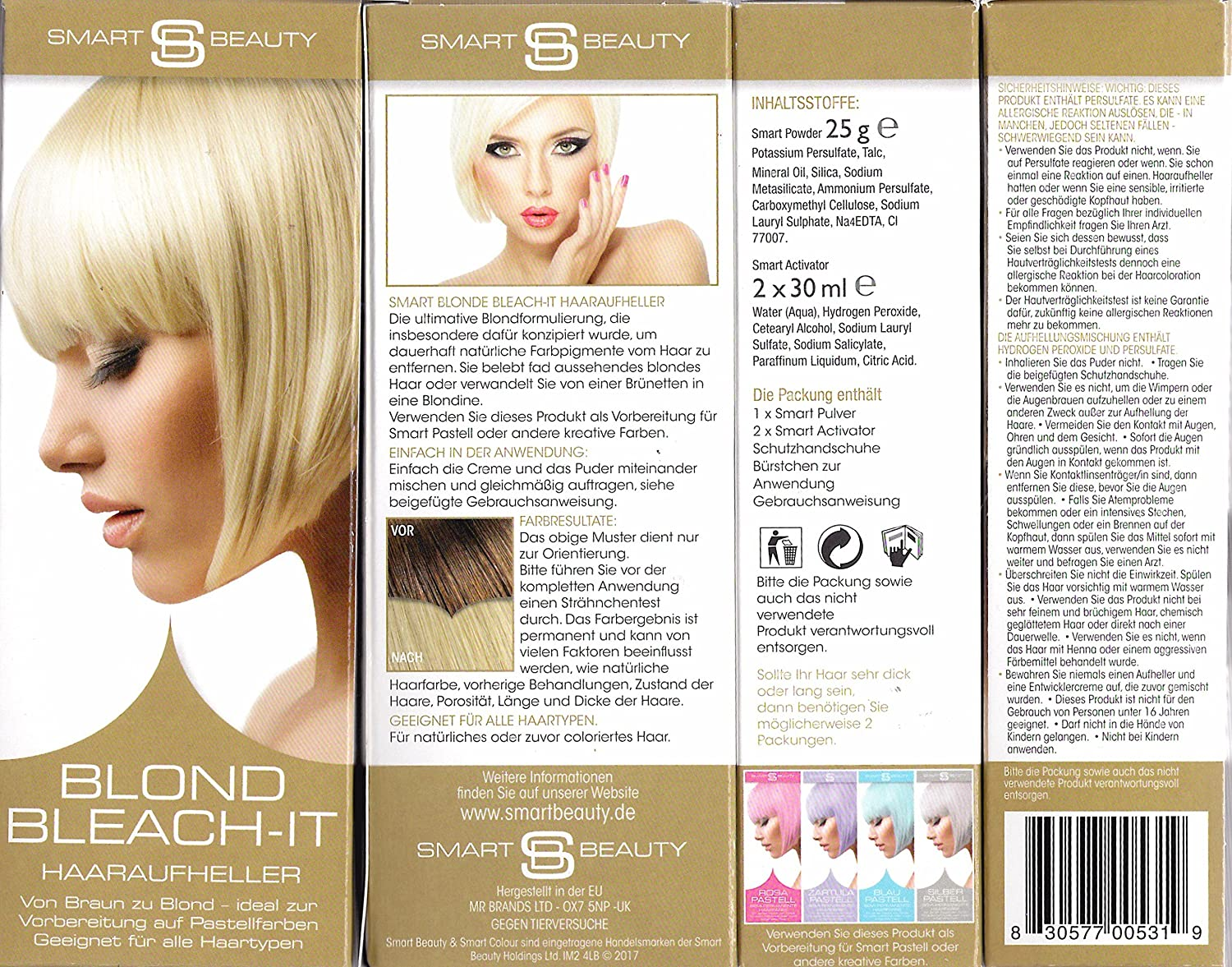 Smart Beauty Blond Bleach-it Haaraufheller 85 ml MR Bands Ltd. UK