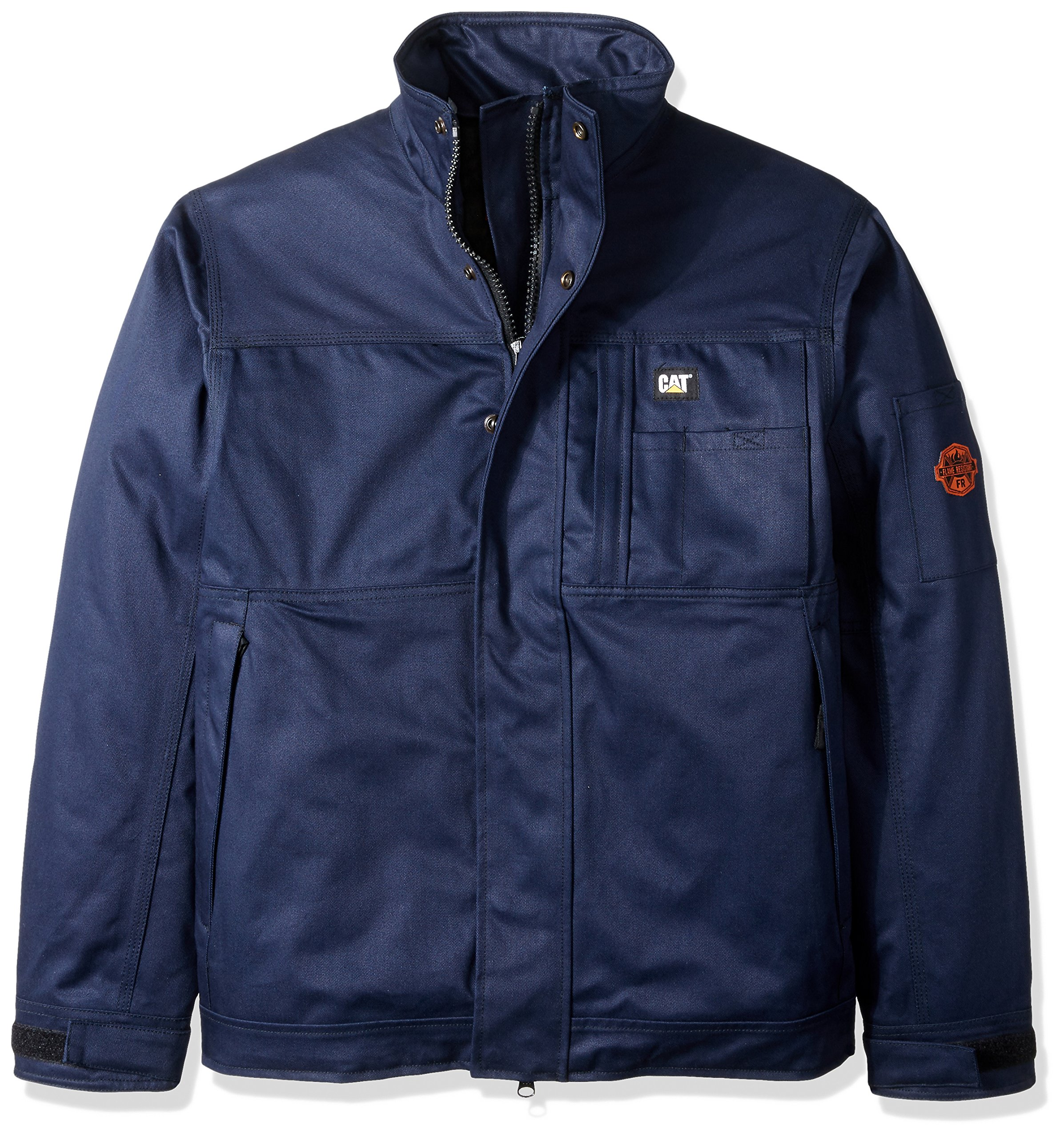 Caterpillar Men's Flame Resistant Insulated Jacket, Flame Resistant Navy, Large