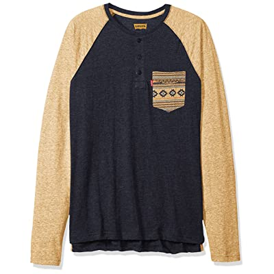 Levi's Men's Chabot Long Sleeve Snow Jersey Shirt at Men's Clothing store