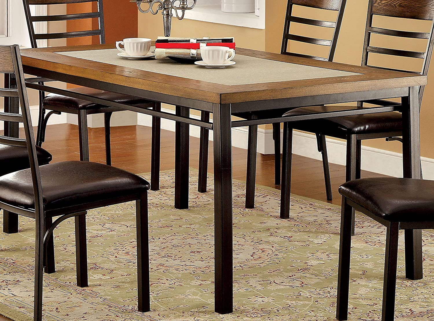 industrial kitchen table furniture. amazoncom furniture of america naga industrial dining table tables kitchen d
