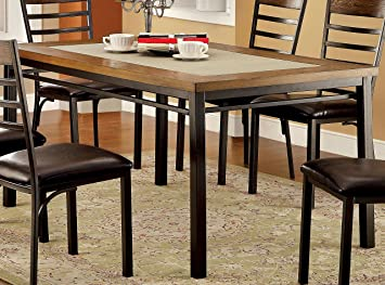 industrial kitchen table furniture. Furniture Of America Naga Industrial Dining Table Kitchen N