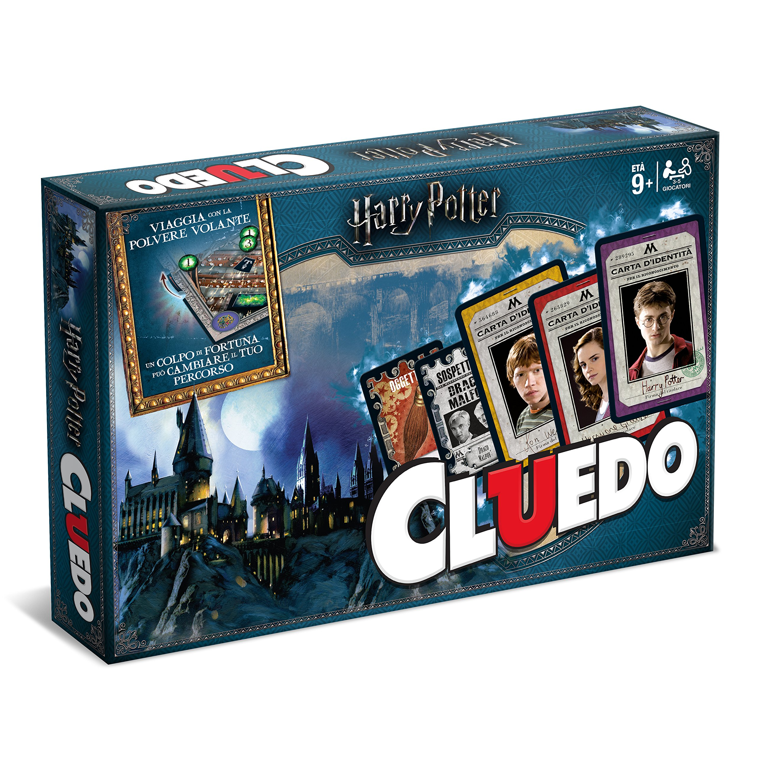 Winning Moves-Board Game-Cluedo Harry Potter Collectable Edition, 02400, Italian
