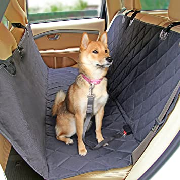 Medium image of dog seat cover with 2 dog seat belts   pet car seat covers   waterproof dog