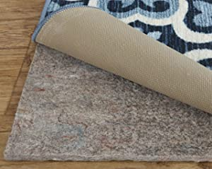 """Rug Pad Central BFR-710118 Felt Rubber All Surface Non-Slip Rug Pad, 7'10"""" X 11'8"""", Brown"""