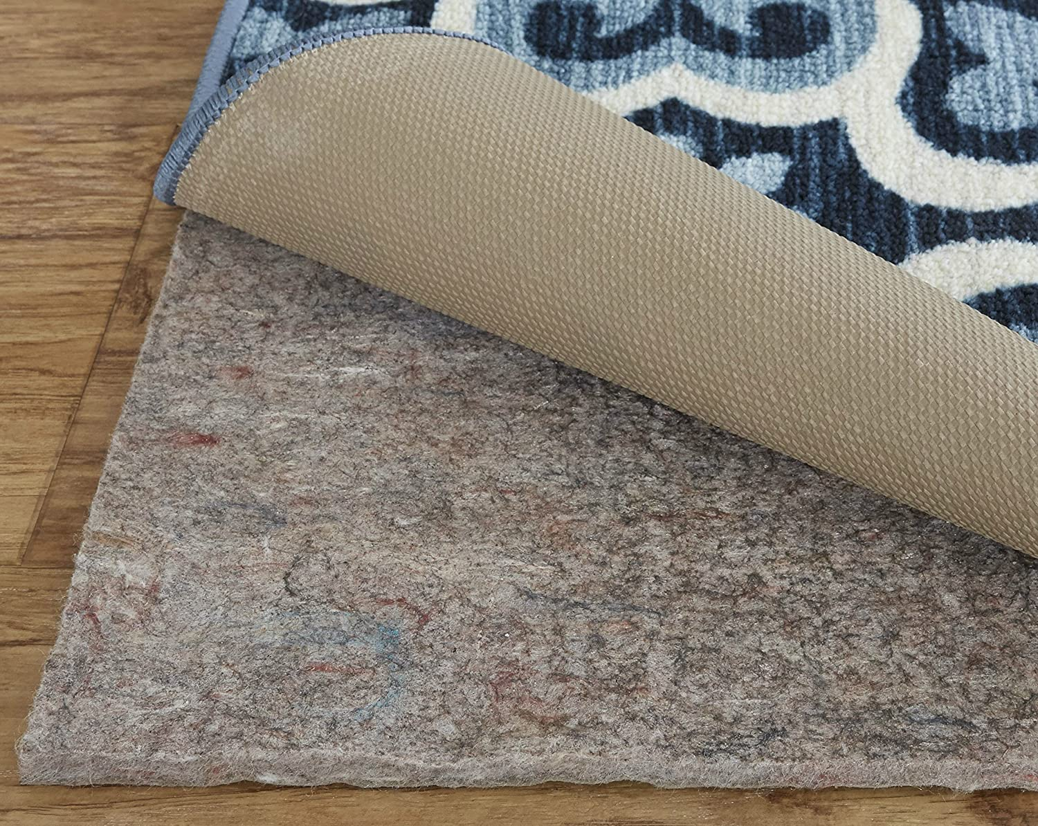 1//4 Inch Thick 9x13 Mohawk Home Dual Surface Felt Non Slip Rug Pad Safe for All Floors