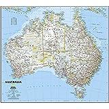 Karte Australien Englisch.Poster 50 X 50 Cm Australien Topographische Karte