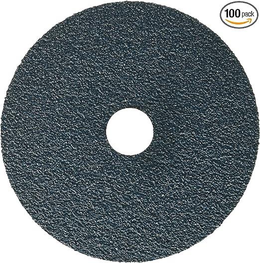 36 Grit United Abrasives-SAIT 69636 Economical Zirconium Fiber Disc 7 X 7//8 100 Per Box