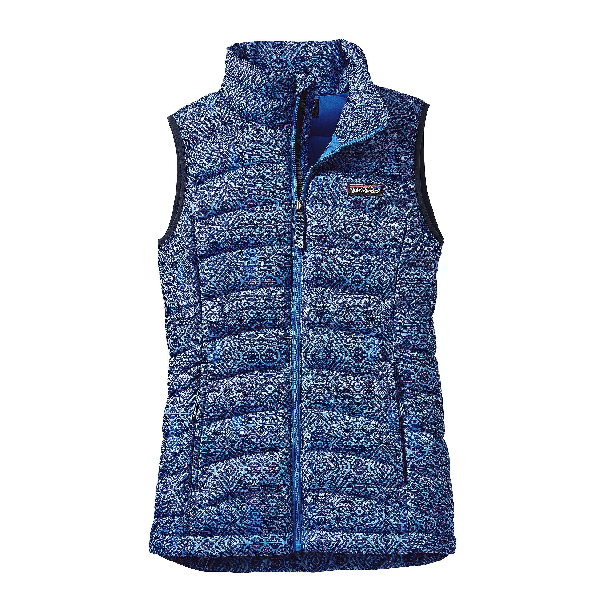 Patagonia Girls' Down Sweater Vest (M, Cross Current/Oasis Blue)