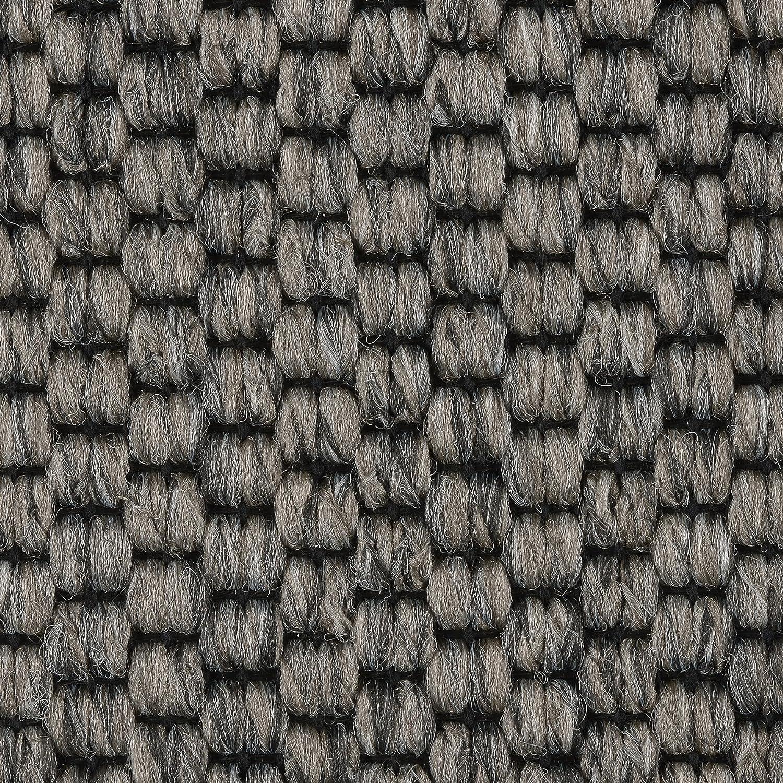 Meterware grau anthrazit verschiedene Gr/ö/ßen Teppichboden Auslegware Gr/ö/ße: 1 Muster 400 und 500 cm Breite Sisal-Optik Schlinge