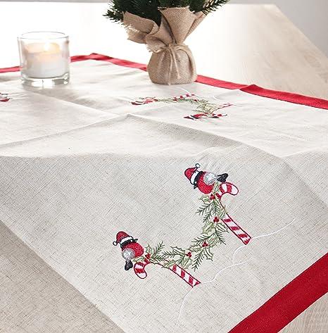 Mantel Azúcar Barra, Beige Rojo Blanco Ropa de mesa Camino de mesa ...