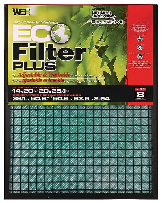 .com: web eco filter plus adjustable air filter 14x20x1 up to ...