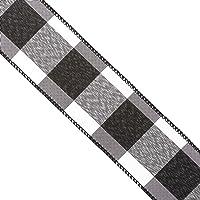 Reliant Ribbon Ribbon, 90064W-984-10F, Black/White, 2-1/2 Inch X 25 Yards