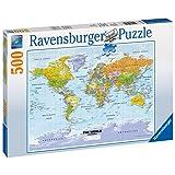 Ravensburger Political World Map Puzzle 500pc,Adult Puzzles