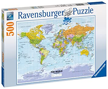 Ravensburger political world map 500pc jigsaw puzzle amazon ravensburger political world map 500pc jigsaw puzzle gumiabroncs Image collections