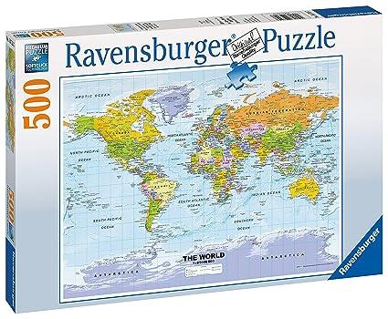 Amazon ravensburger political world map jigsaw puzzle 500 ravensburger political world map jigsaw puzzle 500 piece gumiabroncs Image collections