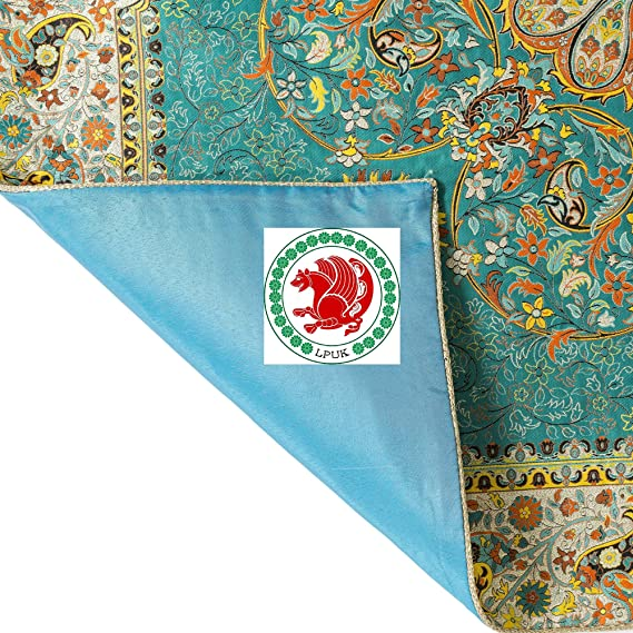 Mantel LPUK Afshari Collection Series2 azul 100 cm × 100 cm aprox ...