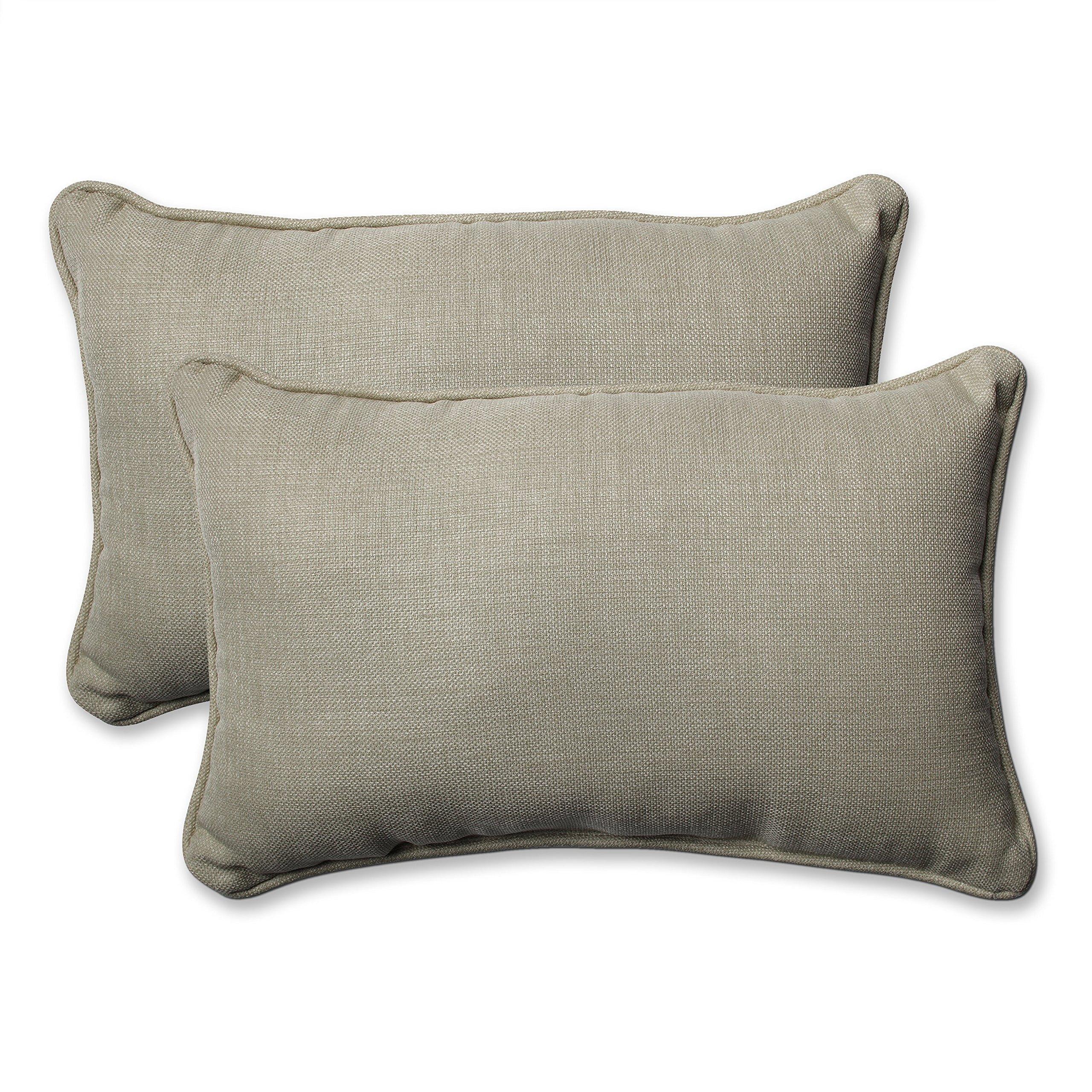 Pillow Perfect Outdoor/Indoor Rave Driftwood Rectangular Throw Pillow (Set of 2)
