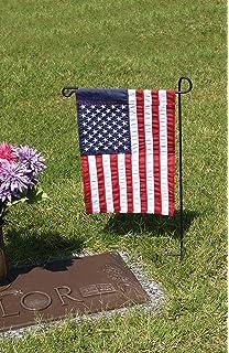 Evergreen Flag Black Iron Cemetery Garden Flag Stand   15u201dW X 28u201dH