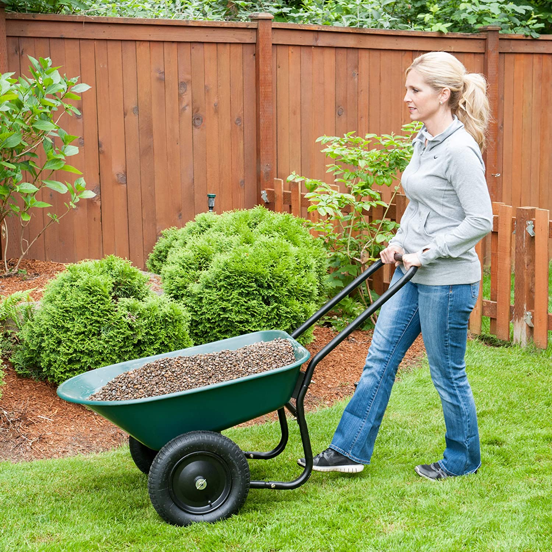 Garden Star 70006 Flat Free Yard Rover Wheelbarrow Garden Cart