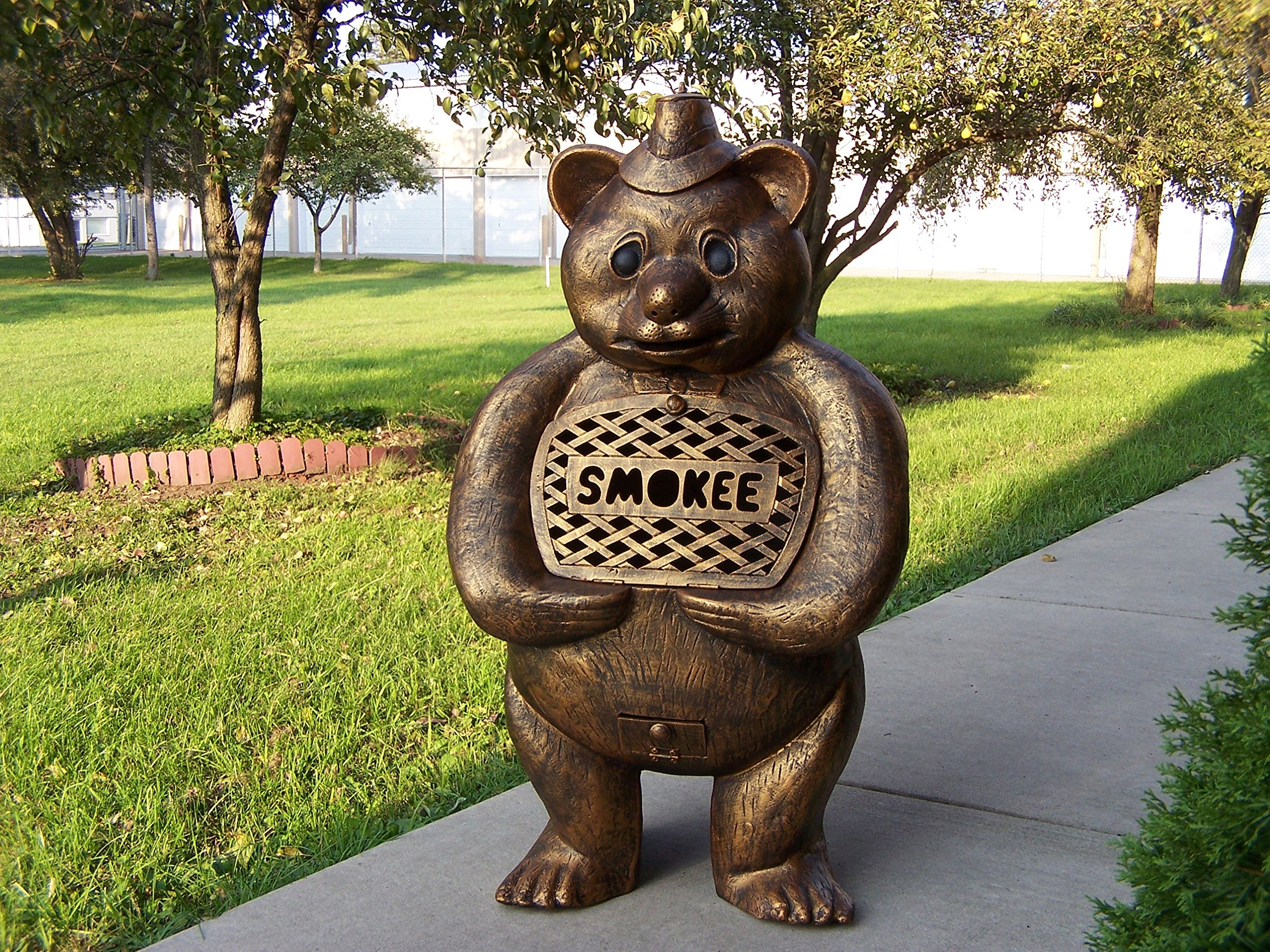 Oakland Living Smokee Bear Cast Aluminum Chimenea Sculpture, Antique Bronze by Oakland Living