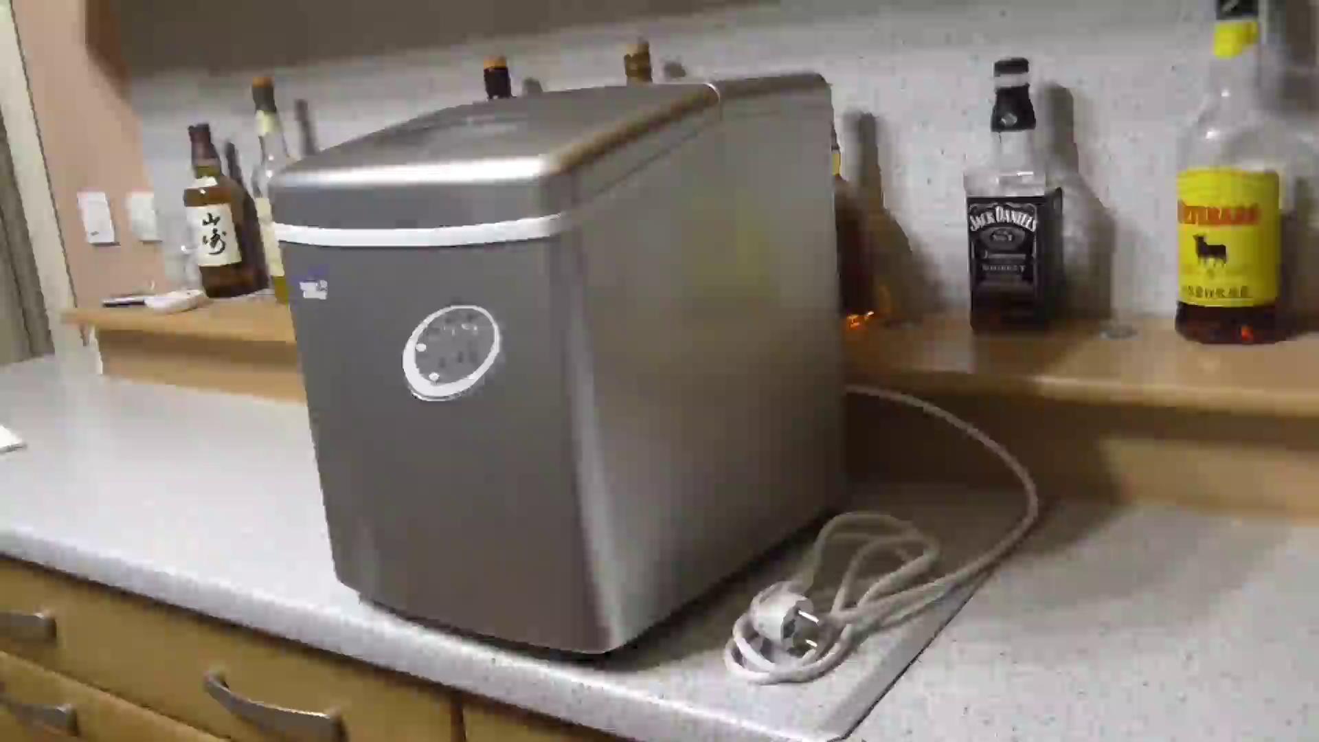 Amerikanischer Kühlschrank Eiswürfel Riechen : Amazon kundenrezensionen eiswürfelmaschine eismaschine