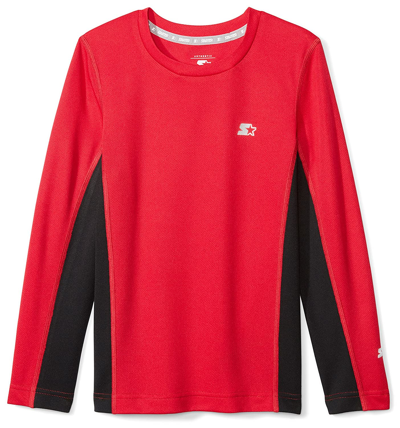 Starter Boys' Long Sleeve Colorblocked Tech T-Shirt, Amazon Exclusive S17FBT02