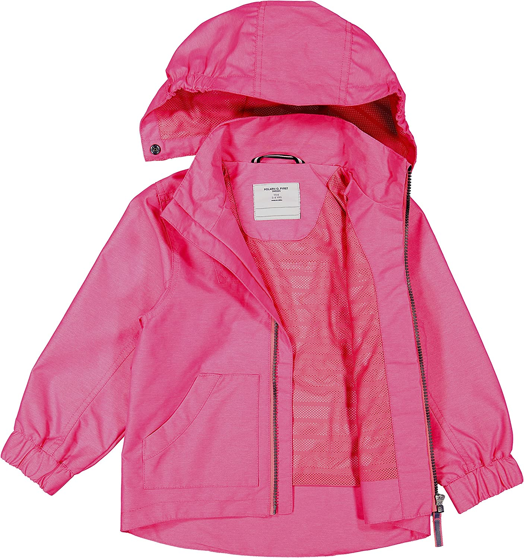 2-12 Years Polarn O Pink Waterproof Packaway Kids Shell Jacket Pyret Girls
