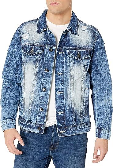 Southpole メンズ プレミアムファッションデニムジャケット