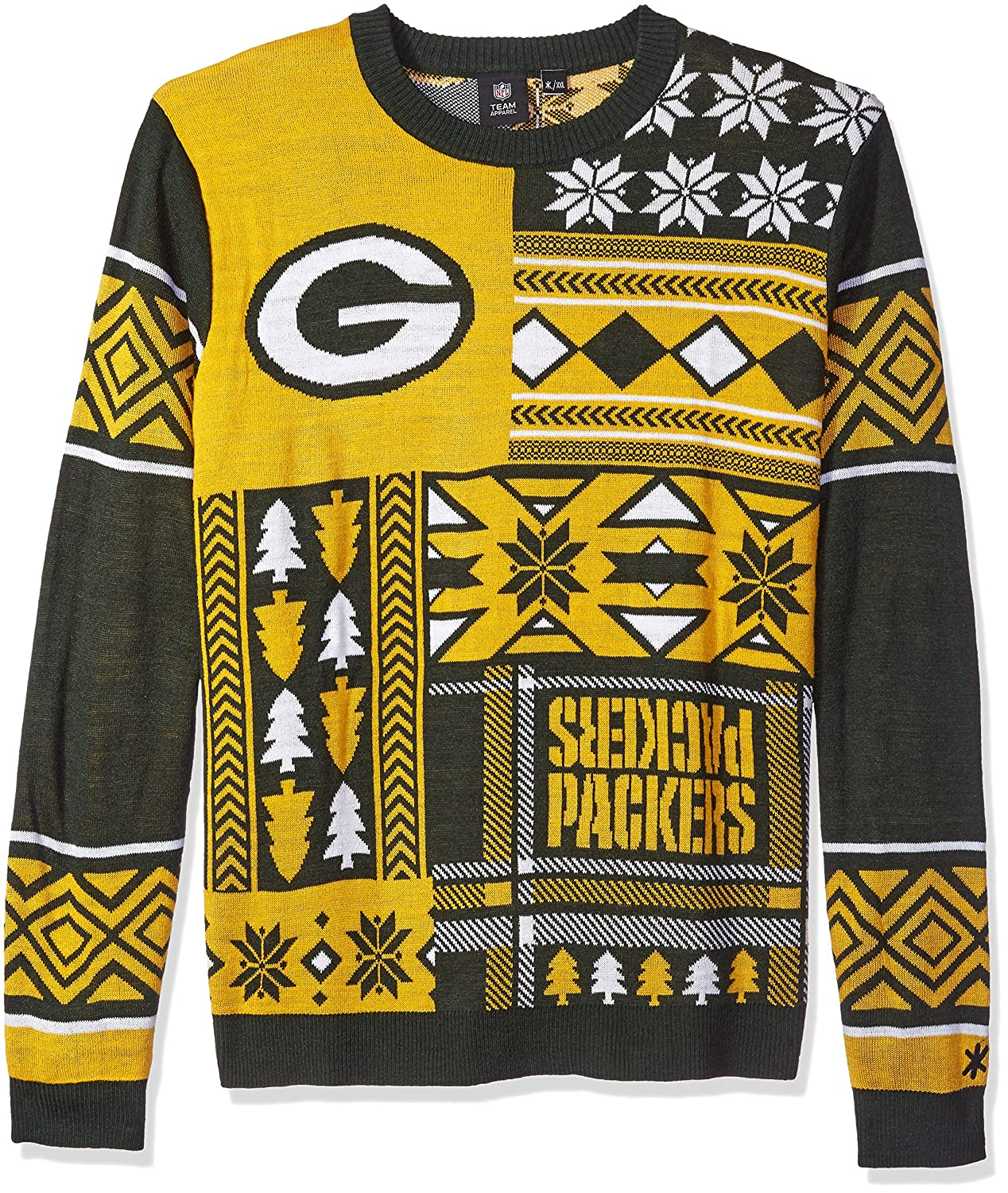 Amazon.com : NFL Patches Ugly Sweater- Pick Team! : Sports & Outdoors