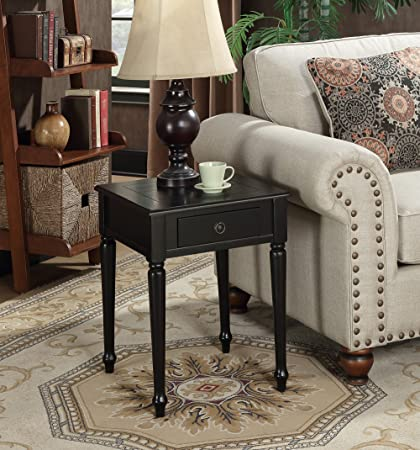 Amazon.com: Convenience Concepts Nottingham End Table, Black: Kitchen U0026  Dining