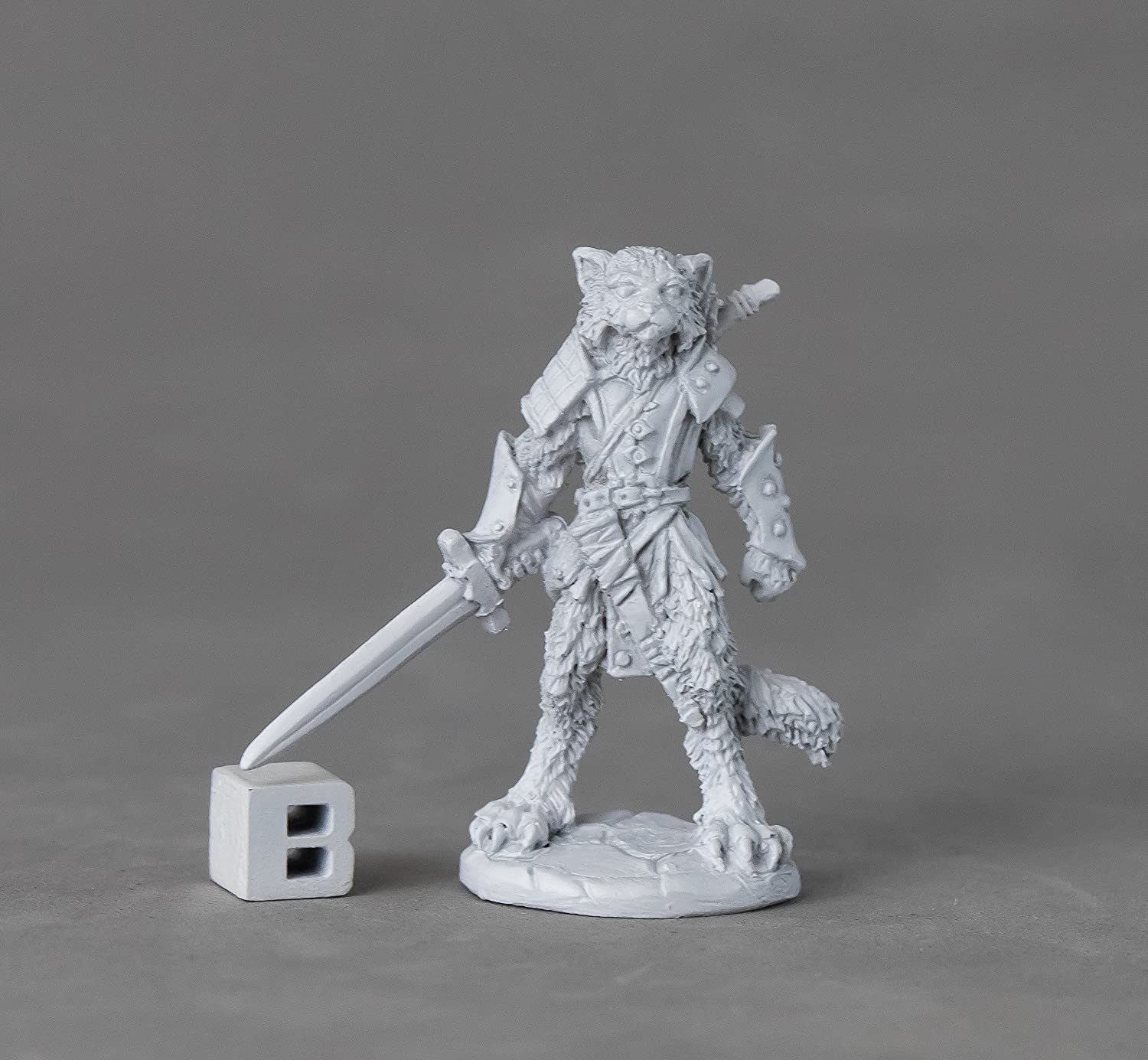 Amazon com: Reaper Miniatures 03893 Mal, Catfolk Warrior