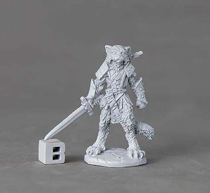 Amazon com: Reaper Miniatures 03893 Mal, Catfolk Warrior