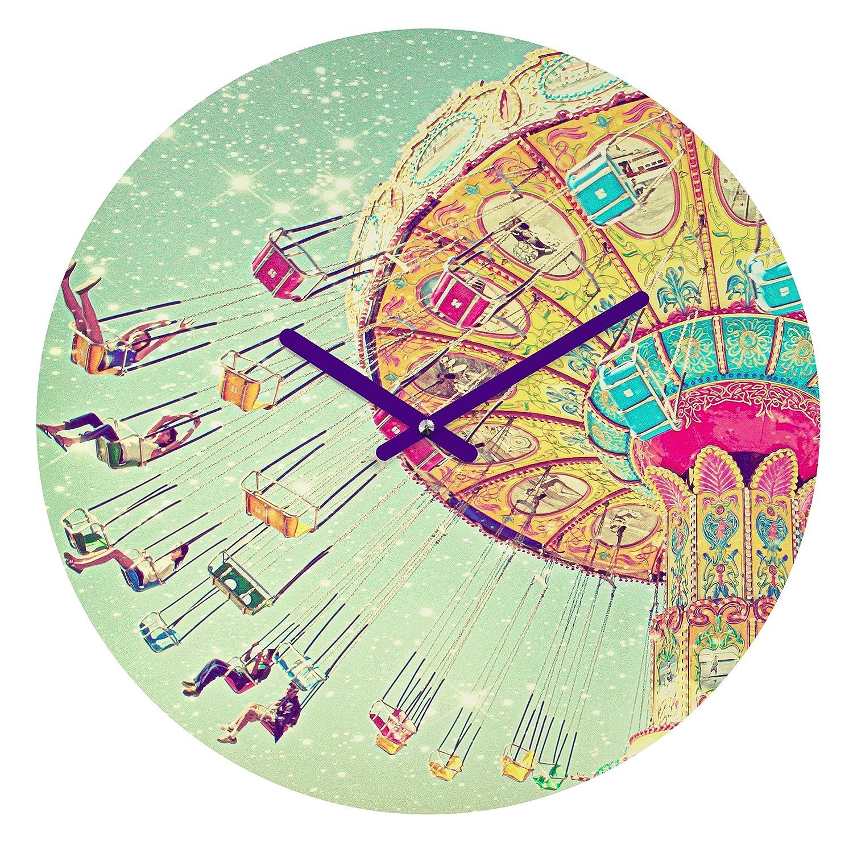 "Amazon.com : Deny Designs Shannon Clark, Swinging Through Stars, Round  Clock, Round, 12"" : Baby"
